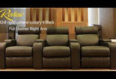 [AudioHanoiTV] Số 233: Review Ghế ngồi Lumene Luxury II Black Full Leather Right Arm